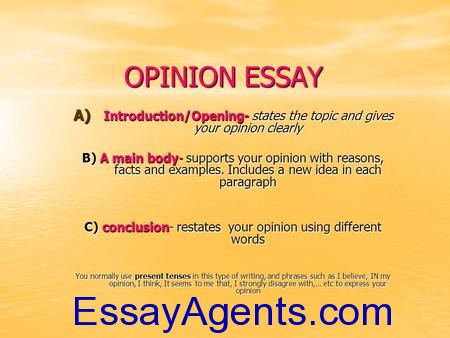 how to write opinion essay